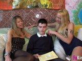Na nezkušeného kluka se usměje dvojité štěstí - freevideo
