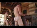 Hezky rozjetý skupinový homosexuální sex v sauně - freevideo