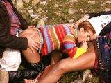 Nadržená rajda ve svetu si užívá grupáč v Alpách - freevideo