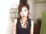 Poslušná japonská choť krásně kouří a polyká nadílku - freevideo